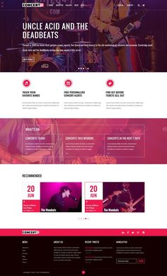 Concerto - Music Events & Tickets Templates ** Music Events & Online Tickets Search Website Template**Concerto is a premium PSD template by bestwebsoft Sell Tickets Online, Buy Tickets, Website Design Inspiration, Design Ideas, Site Website, Website Layout, Website Ideas, Texture Web, Music Events