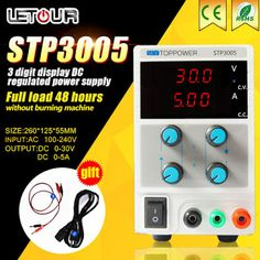 High Precision DC Power Supply with Voltage Regulator 0 30V 5A 150W Double LED Display Adjustable Power Supply with Power Fuse (32737643066)  SEE MORE  #SuperDeals