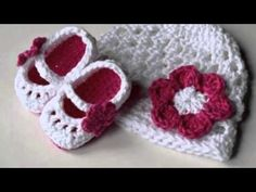 Como tejer zapaticos,  escarpines crochet (ganchillo) para bebé  – Parte 2 - YouTube