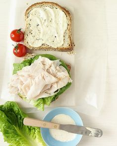 Turkey Caesar Sandwich.  I don't condone conventional meat consumption, but this looks delicious! buy local!