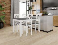 Jídelní sestava bílá 4+1 Lukáš – FALCO Krásný jídelní set se skládá ze 4 jídelních židlí a stolu. Tento bílý jídelní set se hodí do všech interiérů nejen díky kombinaci bílé a šedé barvy. Deska … Dining Sets, Table, Furniture, Home Decor, Dinner Sets, Decoration Home, Dining Room Furniture, Room Decor, Dinnerware