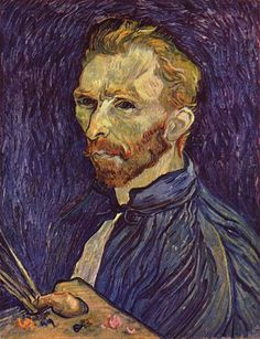Vincent van Gogh: Self-Portrait, 1889.  Oil on canvas.  Painted while living in Saint-Remy. Washington, D.C., National Gallery of Art.
