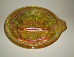Image detail for -Indiana Glass Carnival Relish Dish Kilarney Gold Free Shipping for ...