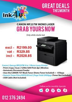 Looking for great prices from a printer ink cartridge shop near you? The number one printer ink cartridge shop in Pretoria.