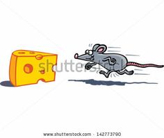 Mouse & Cheese - stock vector