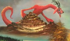 Artists Improve Old Thrift Store Paintings by Adding Monsters