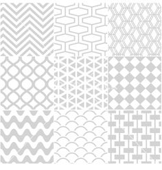 Seamless white pattern vector 1456448 - by paul_june on VectorStock®