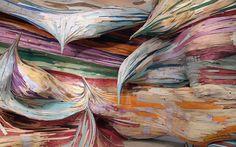 #HenriqueOliveira, #Brazilian #artists, Sao Paulo, plywood sculptures. Image: Boulder Museum of Contemporary Art