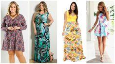 Resultado de imagem para modelos vestidos dia a dia plus size