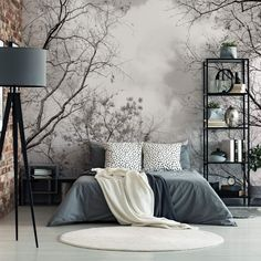 Ideas Master Bedroom Wall Tiles For 2020 Bedroom Wall, Master Bedroom, Art It, Bohemian Bedroom Decor, Home Wallpaper, Forest Wallpaper, My New Room, Interior Design Living Room, Home Furnishings