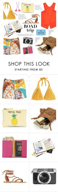 """""""Tropical Treats"""" by cafejulia ❤ liked on Polyvore featuring Trina Turk, SHE MADE ME, New Look, Royce Leather, Valia Gabriel, Casetify, CASSETTE and The House of Marley"""