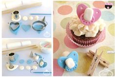 Baby's dummy's soothers fondant tutorial