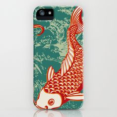 Japanese Koi Design iPhone Case by patterndesign - $35.00    Artwork by Alexandra Bolzer Japanese Koi, Japanese Design, Cute Cases, Pattern Design, Gadgets, Iphone Cases, Patterns, Stylish, My Style
