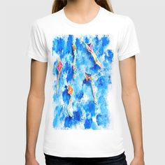 """American Apparel Fine Jersey T-shirts are made with 100% fine jersey cotton combed for softness and comfort.   ABOUT THE ART free, spirit, kites, Aegean Sky, hand made, painting, by Elisavet, when she was five years old! Also... We want to thank you Society6 We're excited! to let us know that our Print """"FREE SPiRiT KiTES"""" has been selected to be included in the Society6 Shop!!!! Kites, Free Spirit, American Apparel, Kids Fashion, Sky, Coffee, Mens Tops, Cotton, Handmade"""