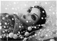 Evangeline Ghastly, fascinated by snow.