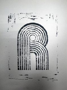 Linocut Alphabet 5 by The D/sign Lounge, via Flickr