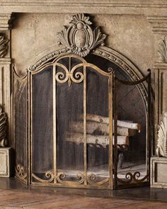 Shop Classic Fireplace Screen at Horchow, where you'll find new lower shipping on hundreds of home furnishings and gifts. Decor, Gold Fireplace Screen, Fireplace Screens, Fireplace Accessories, Home Decor, Tuscan Decorating, Fireplace Decor, Fireplace, Classic Fireplace