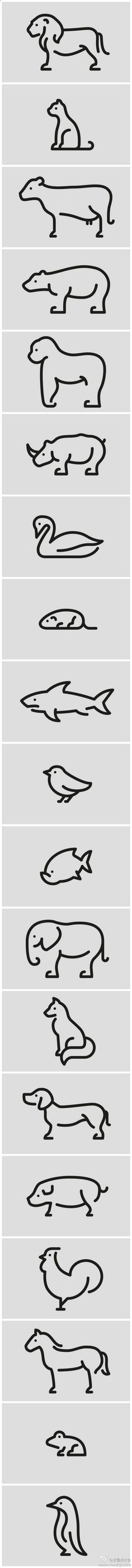Easy to draw animals - Imgur || would make a great finger tracing activity - or laminated book to trace the lines if they were faded back