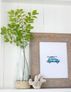 Free Printable � Summer Time VW Buggy