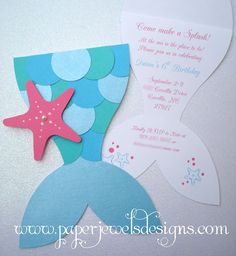 """Mermaid Splash"" by Paper Jewels Designs - $2.75 each"