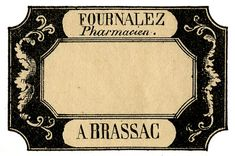 Vintage French Pharmacy Labels - Apothecary: 5 colors to choose from..