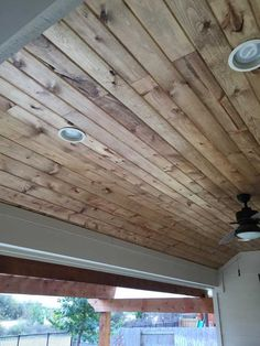 Super Ideas For Wood Patio Ceiling Outdoor Living Wood, Porch Wood, Shiplap Ceiling, Porch Wall, Tongue And Groove Ceiling, Porch Ceiling, Patio Ceiling Ideas, Porch Roof, Wood Patio
