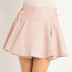 J-Fashion / Bottoms / LIZ LISA Check Flare Sukapan Skirt