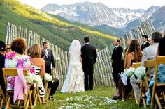 Gorgeous mountain wedding