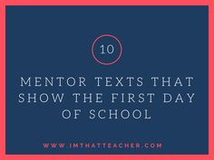 First Days of School Text Set 1 Freak The Mighty, Robert Cole, Patricia Polacco, Icebreaker Activities, Mentor Texts, Ice Breakers, One Day, Read Aloud, First Day Of School