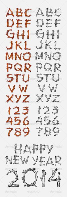 Nice vector alphabet. Good use for initial, artistic text, or any design you want. Easy to use. Files included : AI, EPS, JPEG, PSD