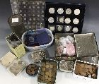 A COLLECTION OF MAINLY PRE-DECIMAL COINS, to include a quantity of silver three pences, commemorative crowns etc