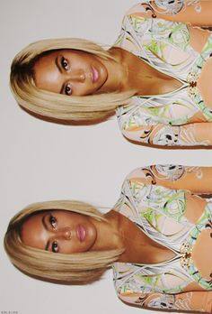 Beyonce bob. Obsessed. Medium length hair. Short hair. Blonde.