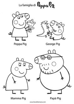 Printable Peppa Pig Coloring Pages. Have a Joy with Peppa Pig Coloring Pages. Do your children like to color pictures? If they do, the Peppa pig coloring pages Peppa Pig Coloring Pages, Summer Coloring Pages, Colouring Pages, Printable Coloring Pages, Coloring Pages For Kids, Colouring Sheets, Peppa Pig Familie, Peppa Pig Drawing, Peppa Pig Painting
