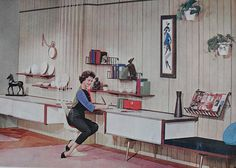 1950s Desk Den Rec Room Vintage Interior Design Photo    www.ajaxallpurpose.blogspot.com/    www.facebook.com/christian.montone/