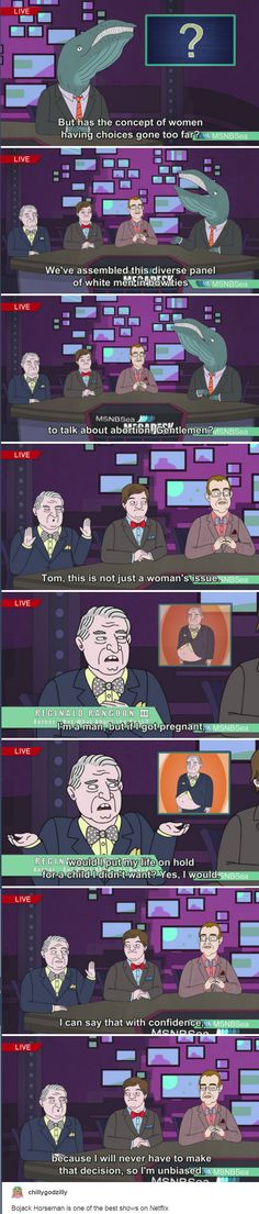 Bojack Horseman is one of the best shows on Netflix. http://anditwaspun.tumblr.com/post/157494920186
