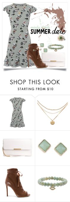 """Summer Date Night"" by karolineacc ❤ liked on Polyvore featuring Oasis, ABS by Allen Schwartz, Gianvito Rossi, Sydney Evan and summerdatenight"