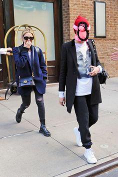 Cara Delevingne and Ashley Benson – Leaving The Greenwich Hotel in NYC Cara Delevingne, Greenwich Hotel, Ashley Benson, Pretty Little Liars, Nyc, Punk, Haircuts, Goal, Street