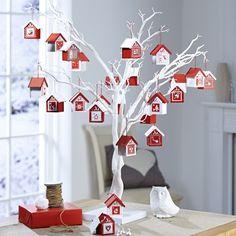 White Twig Christmas Tree, White Twig Tree, Xmas Tree, Christmas Home, Christmas Tree Ornaments, Christmas Crafts, Alternative Advent Calendar, Table Planner, Brindille