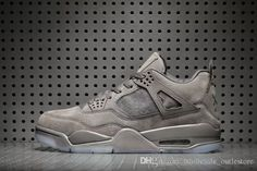 d9ac3109a0ad98 2018 Hot Sale 2017 KAWS X Air 4 Retro XX Kaws Cool Grey White Glow Best  Quality With Box White Blue Black Wholesale Basketball Shoes With Box From  ...