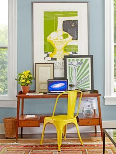 #yellow #tolix #chair