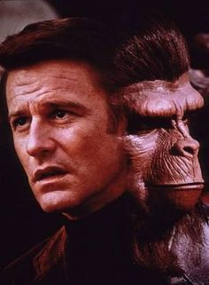 """""""The Planet of the Apes"""" - Roddy McDowall, Century Fox, Sci Fi Movies, Movie Tv, Fun Movies, Movie Theater, Plant Of The Apes, The Poseidon Adventure, Cinema, People Of Interest, Romantic Couples"""