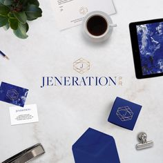 Our brand-new branding for Jeneration PR designed by WE ARE BRANCH | JENERATION PR