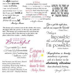 Audrey Hepburn Marilyn Monroe Quotes | Quotes - Marilyn Monroe, Audrey Hepburn
