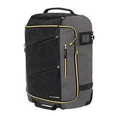 Cabin Max Manhattan 55x40x20 Trolley with packaway backpack straps (Grey/Yellow)