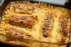 Süß-scharfer Lachs auf Spinat mit Sahnesauce und Honigkruste, ein schmackhaftes Rezept aus der Kategorie Überbacken. Bewertungen: 142. Durchschnitt: Ø 4,7.