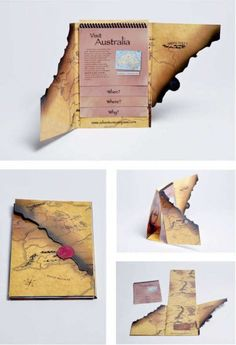 This type of brochure was intended for a travel agency that books exclusive tours around the world. This is a very creative way of portrayi. Visual Design, App Design, Layout Design, Print Design, Brochure Indesign, Template Brochure, Brochure Layout, Brochure Ideas, Brochure Printing