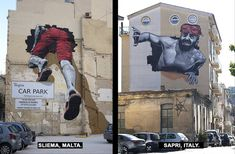 MTO crea murales in 2 parti, metà a Malta e metà in Italia, e parla di immigrazione | KEBLOG