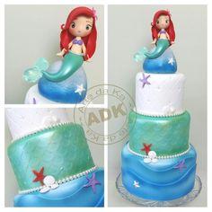 Little Mermaid cake - Bolo  Pequena Sereia