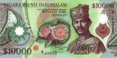 An image of the B$10,000. #10000 #Currency #Brunei