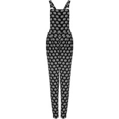 TOPSHOP Elephant Dungaree Jumpsuit (7.250 RUB) ❤ liked on Polyvore featuring jumpsuits, dungarees, dresses, rompers, pants, black, playsuit jumpsuit, topshop romper, jump suit and topshop